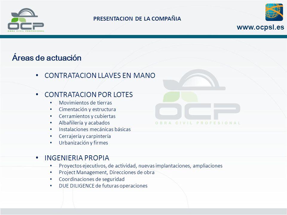 CONTRATACION LLAVES EN MANO CONTRATACION POR LOTES