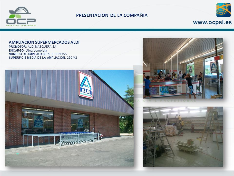 AMPLIACION SUPERMERCADOS ALDI