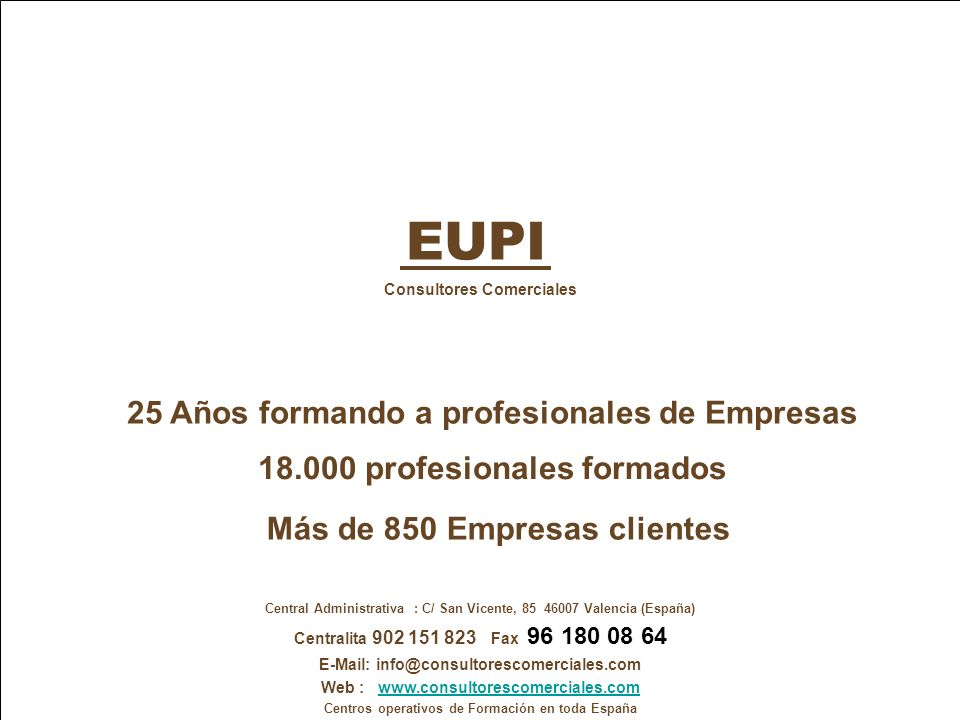 EUPI 25 Años formando a profesionales de Empresas