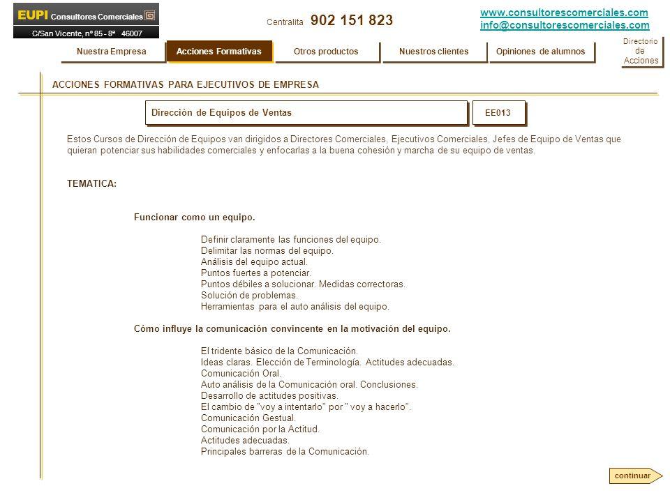 ACCIONES FORMATIVAS PARA EJECUTIVOS DE EMPRESA