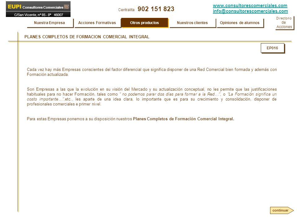 PLANES COMPLETOS DE FORMACION COMERCIAL INTEGRAL