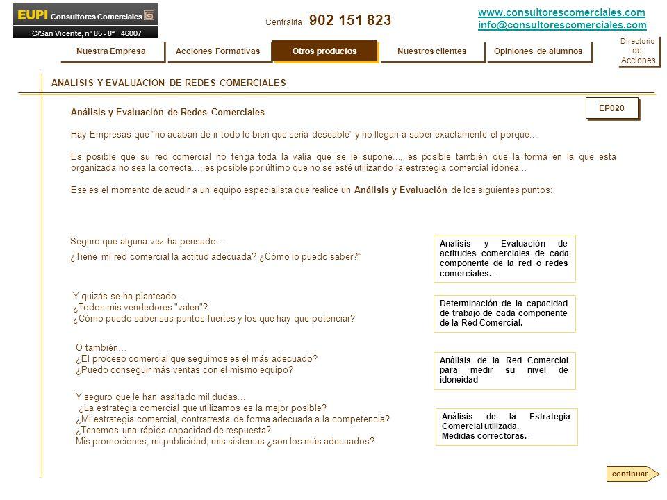ANALISIS Y EVALUACION DE REDES COMERCIALES