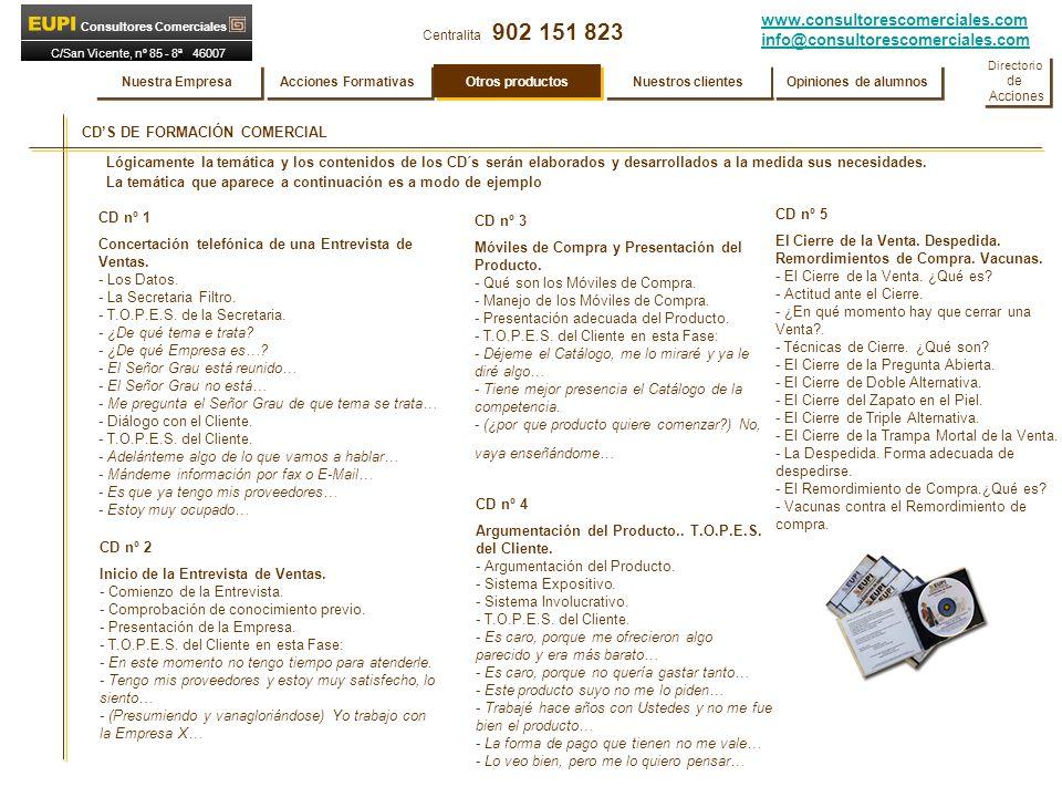 CD'S DE FORMACIÓN COMERCIAL