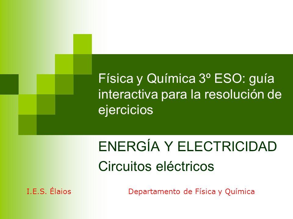 ENERGÍA Y ELECTRICIDAD Circuitos eléctricos