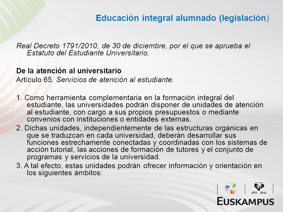Educación integral alumnado (legislación)