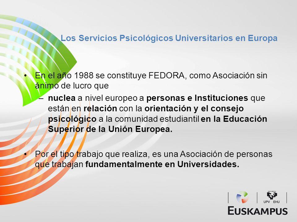 Los Servicios Psicológicos Universitarios en Europa
