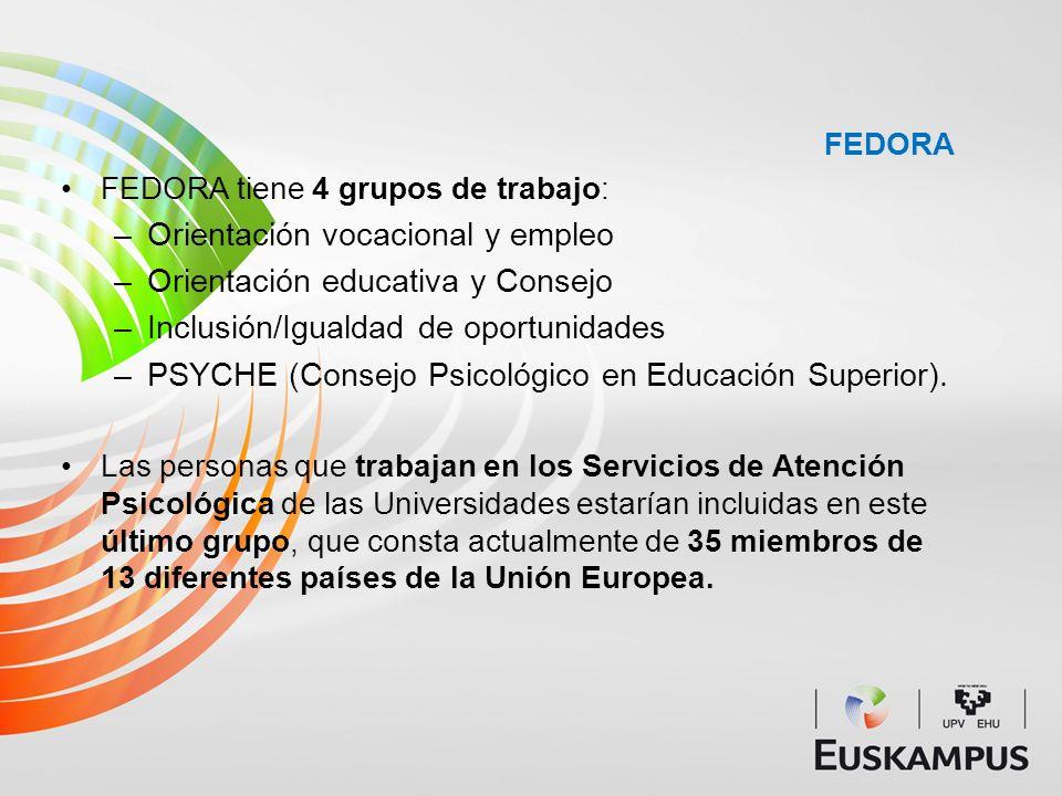 Orientación vocacional y empleo Orientación educativa y Consejo