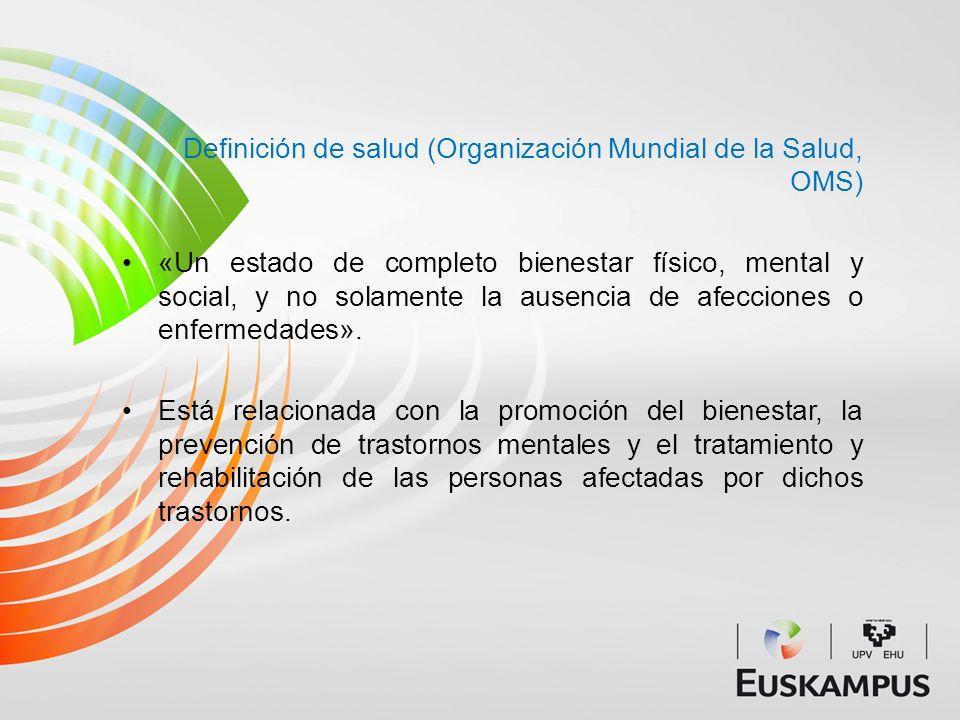 Definición de salud (Organización Mundial de la Salud, OMS)