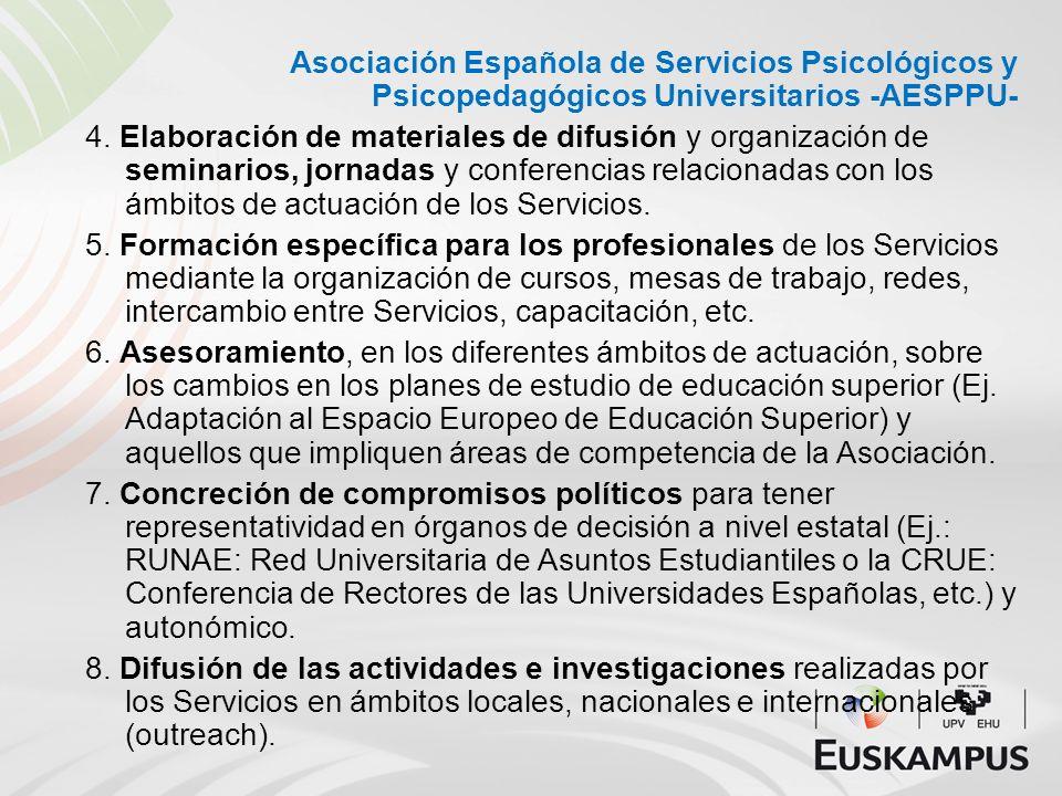 Asociación Española de Servicios Psicológicos y Psicopedagógicos Universitarios -AESPPU-