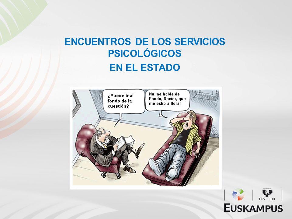 ENCUENTROS DE LOS SERVICIOS PSICOLÓGICOS