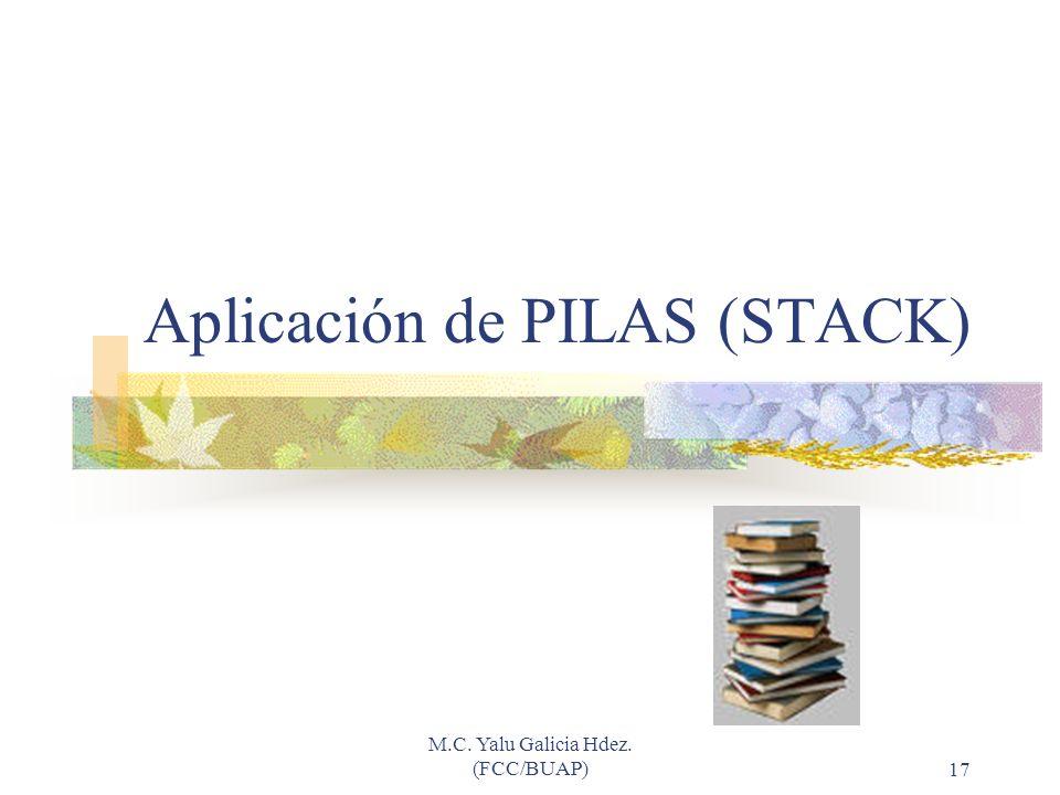 Aplicación de PILAS (STACK)