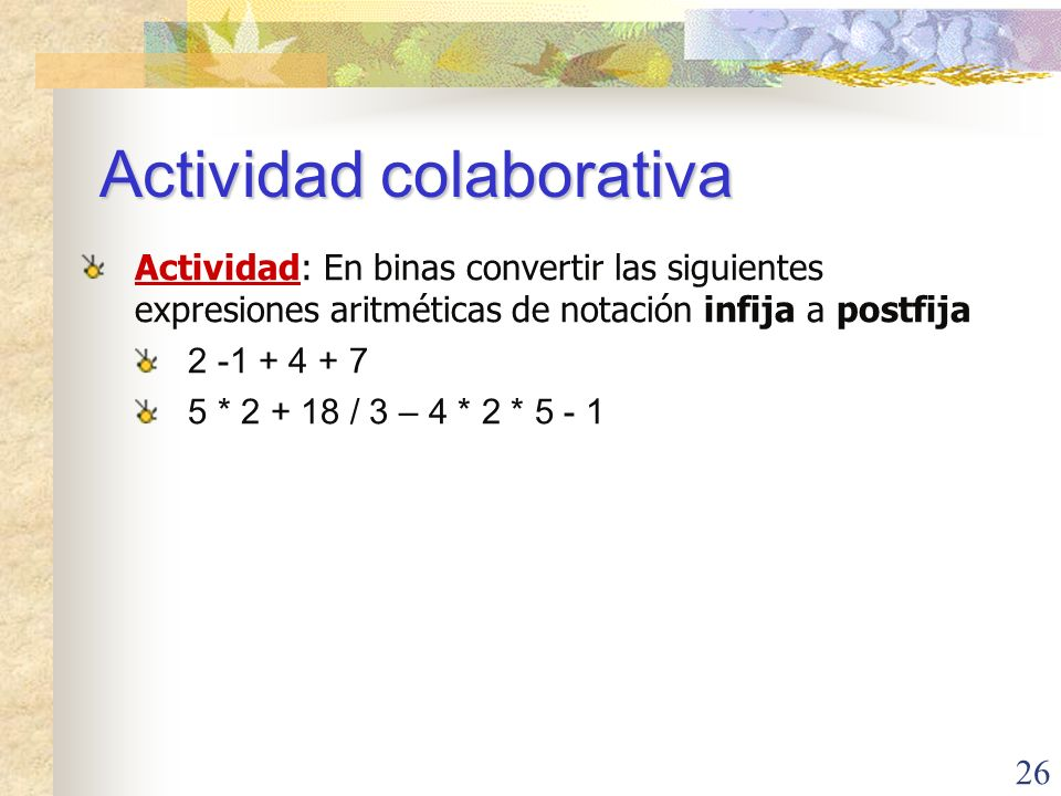 Actividad colaborativa