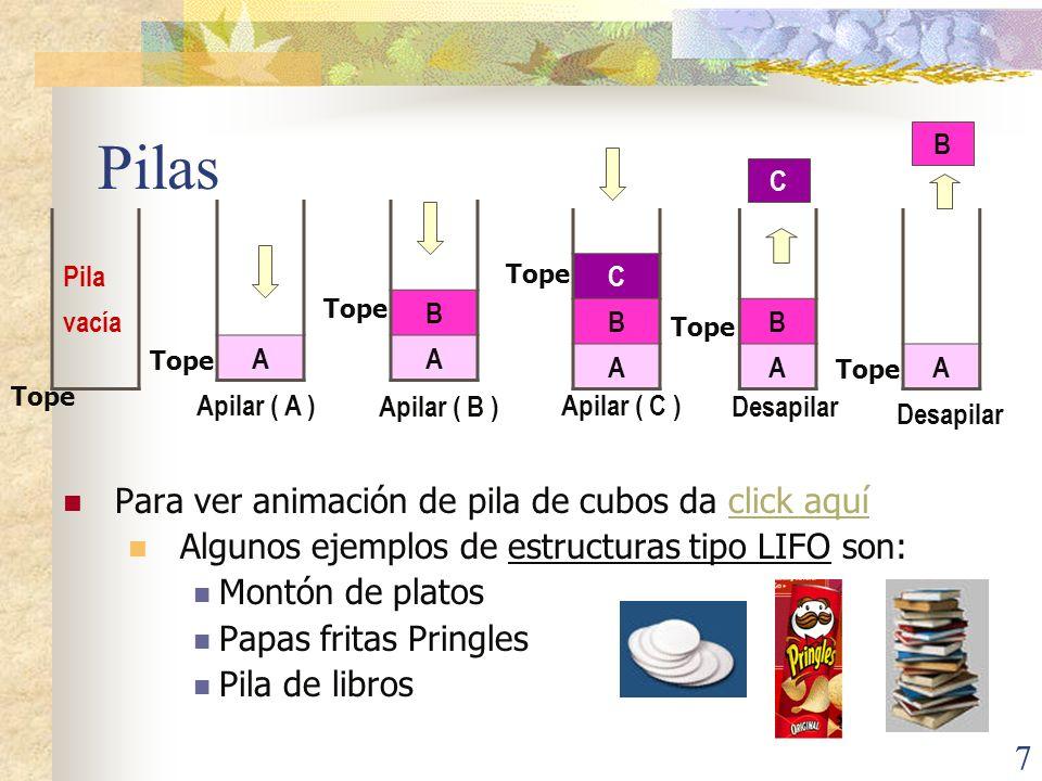 Pilas Para ver animación de pila de cubos da click aquí