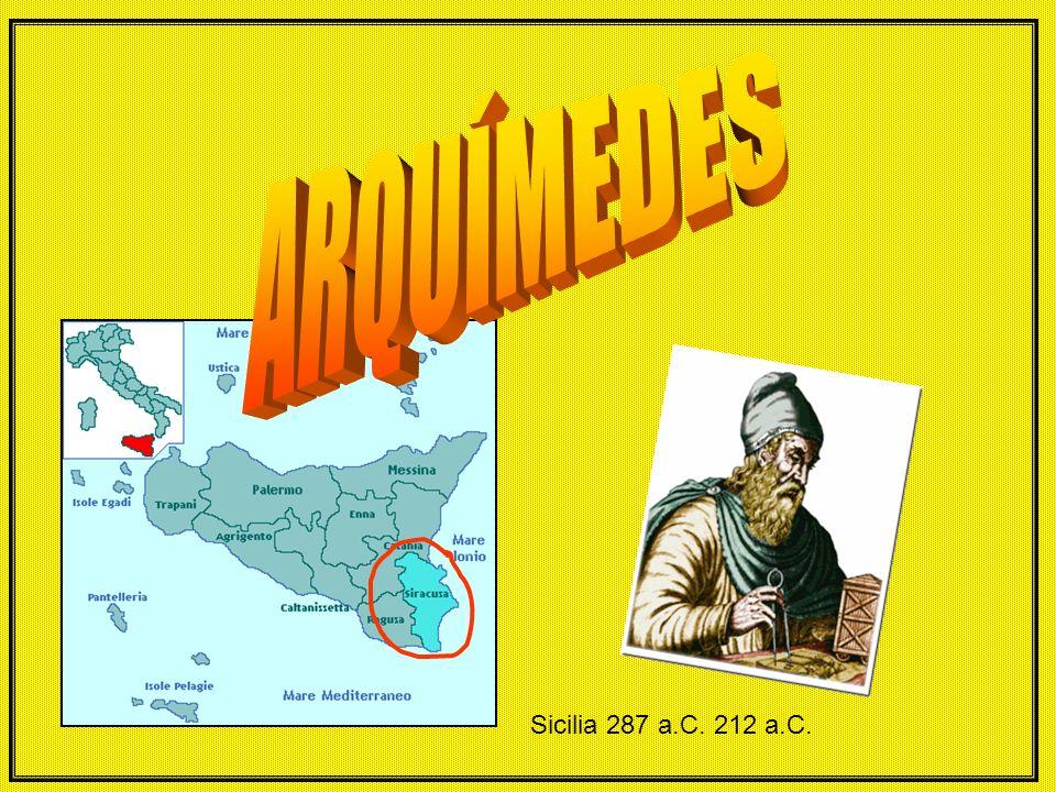 ARQUÍMEDES Sicilia 287 a.C. 212 a.C.