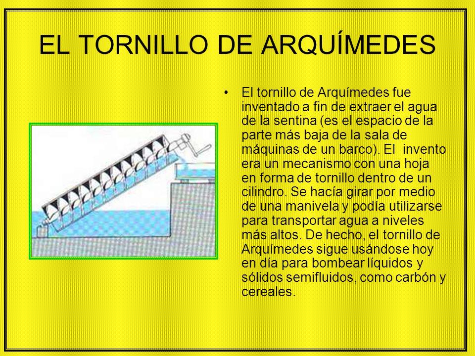 EL TORNILLO DE ARQUÍMEDES