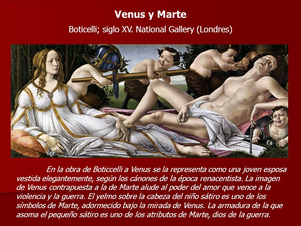 Boticelli; siglo XV. National Gallery (Londres)