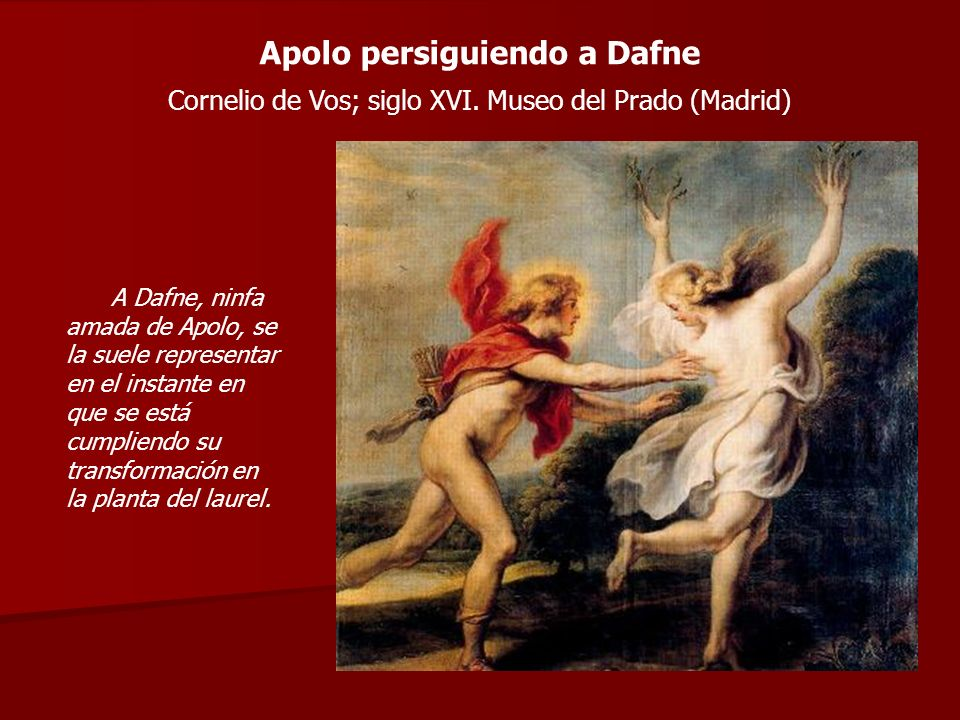 Apolo persiguiendo a Dafne