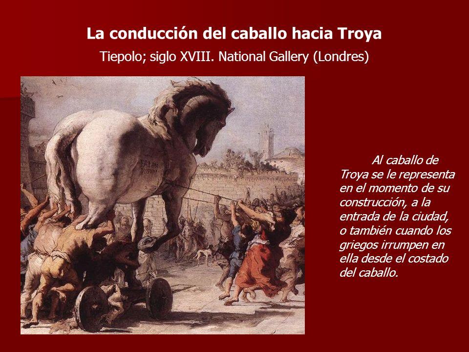La conducción del caballo hacia Troya