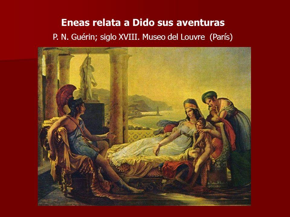 Eneas relata a Dido sus aventuras