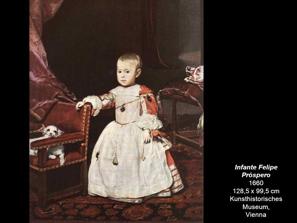 Infante Felipe Próspero 1660 128,5 x 99,5 cm Kunsthistorisches Museum,