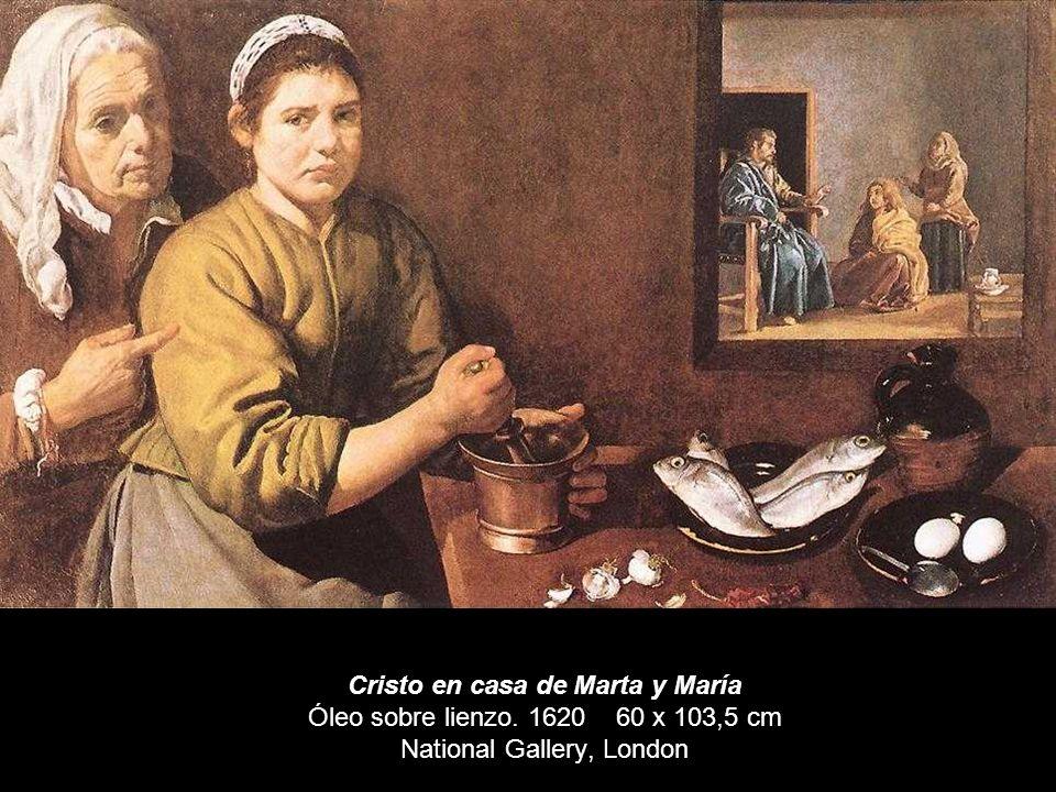Cristo en casa de Marta y María Óleo sobre lienzo