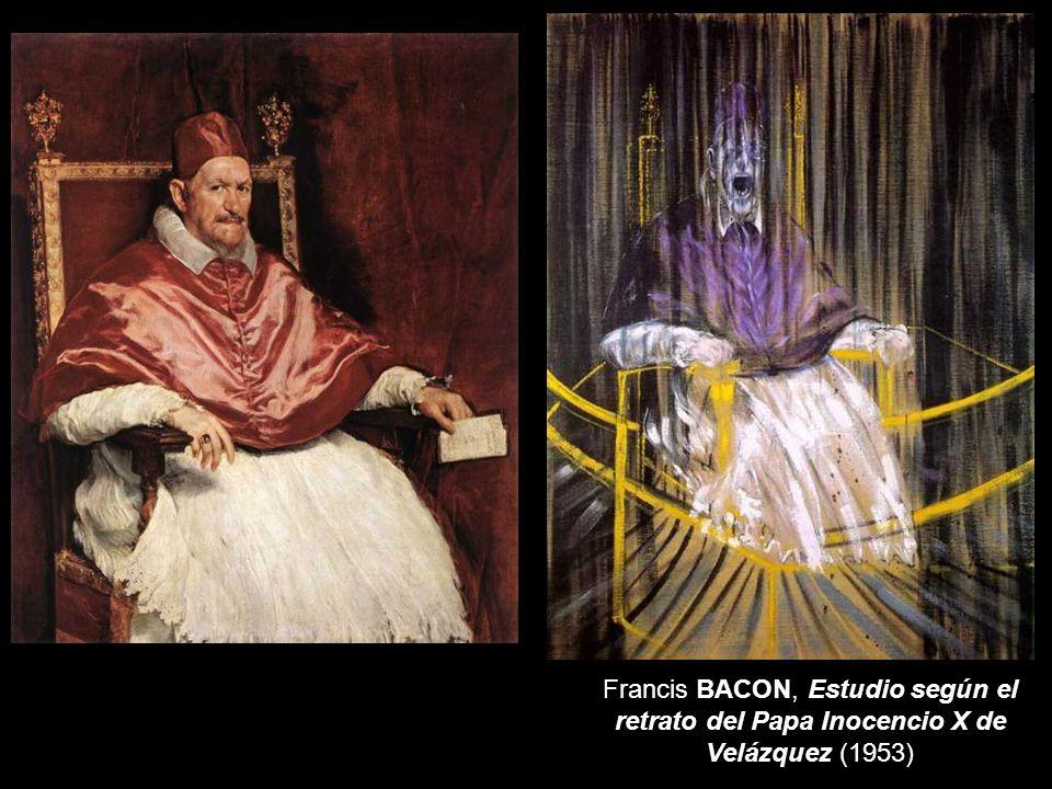 Francis BACON, Estudio según el retrato del Papa Inocencio X de Velázquez (1953)