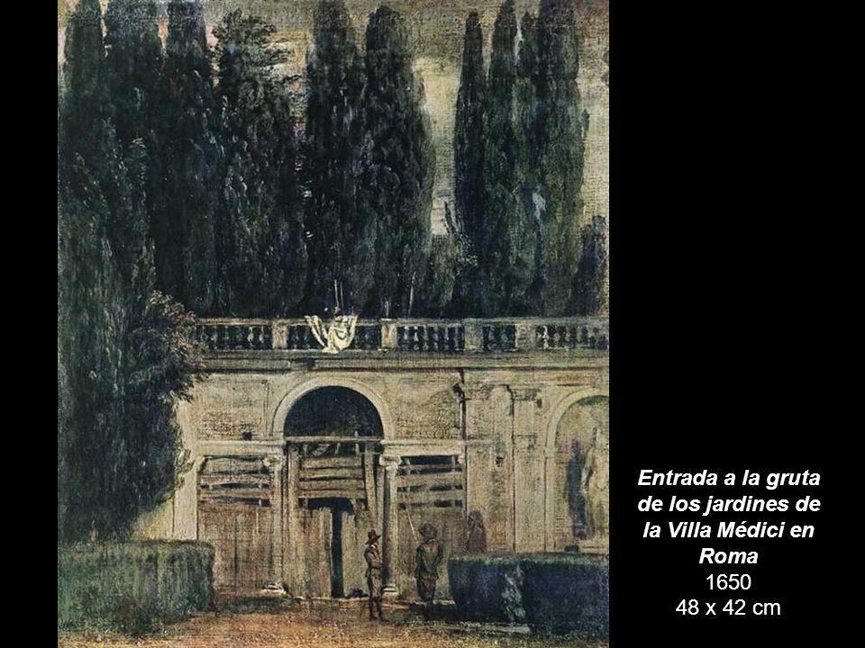 Entrada a la gruta de los jardines de la Villa Médici en Roma