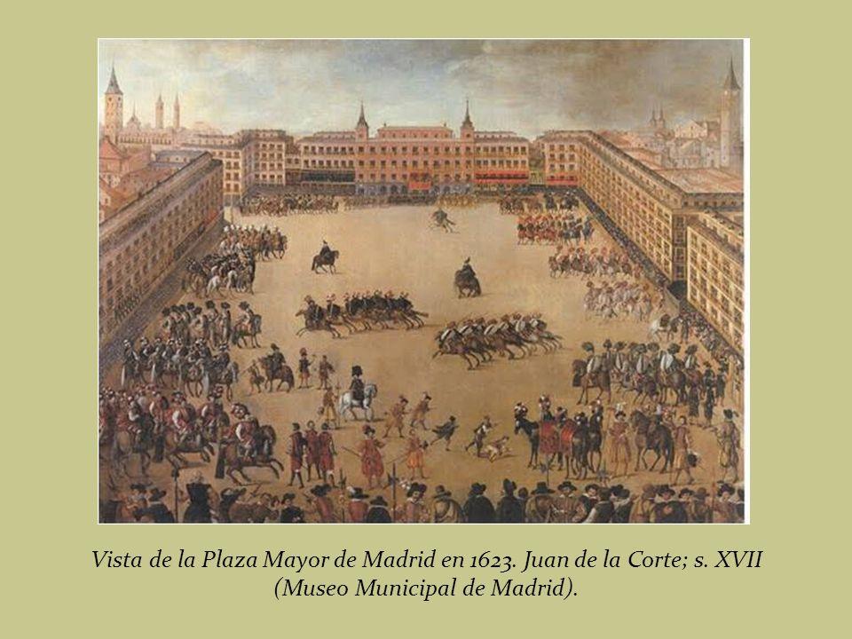 Vista de la Plaza Mayor de Madrid en 1623. Juan de la Corte; s. XVII