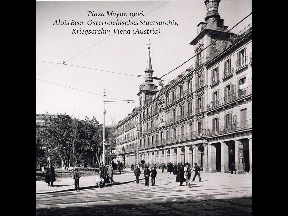 Plaza Mayor, 1906. Alois Beer. Osterreichisches Staatsarchiv, Kriegsarchiv, Viena (Austria)
