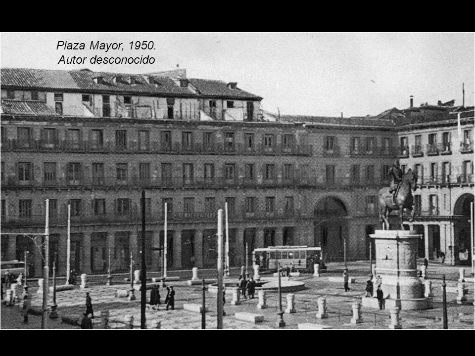 Plaza Mayor, 1950. Autor desconocido