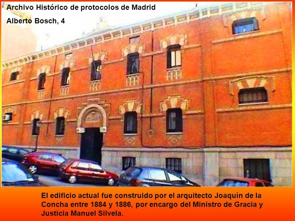 Archivo Histórico de protocolos de Madrid