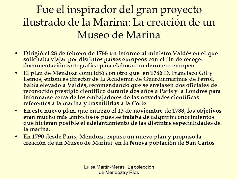 Luisa Martín-Merás. La colección de Mendoza y Ríos