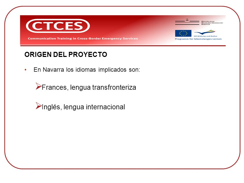 Frances, lengua transfronteriza Inglés, lengua internacional