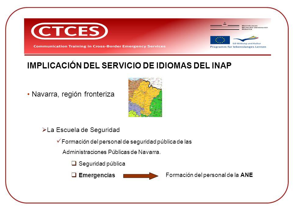 IMPLICACIÓN DEL SERVICIO DE IDIOMAS DEL INAP