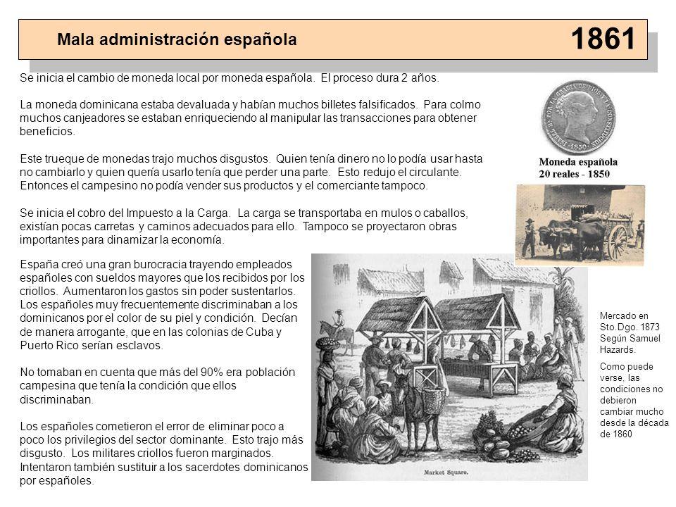 1861 Mala administración española