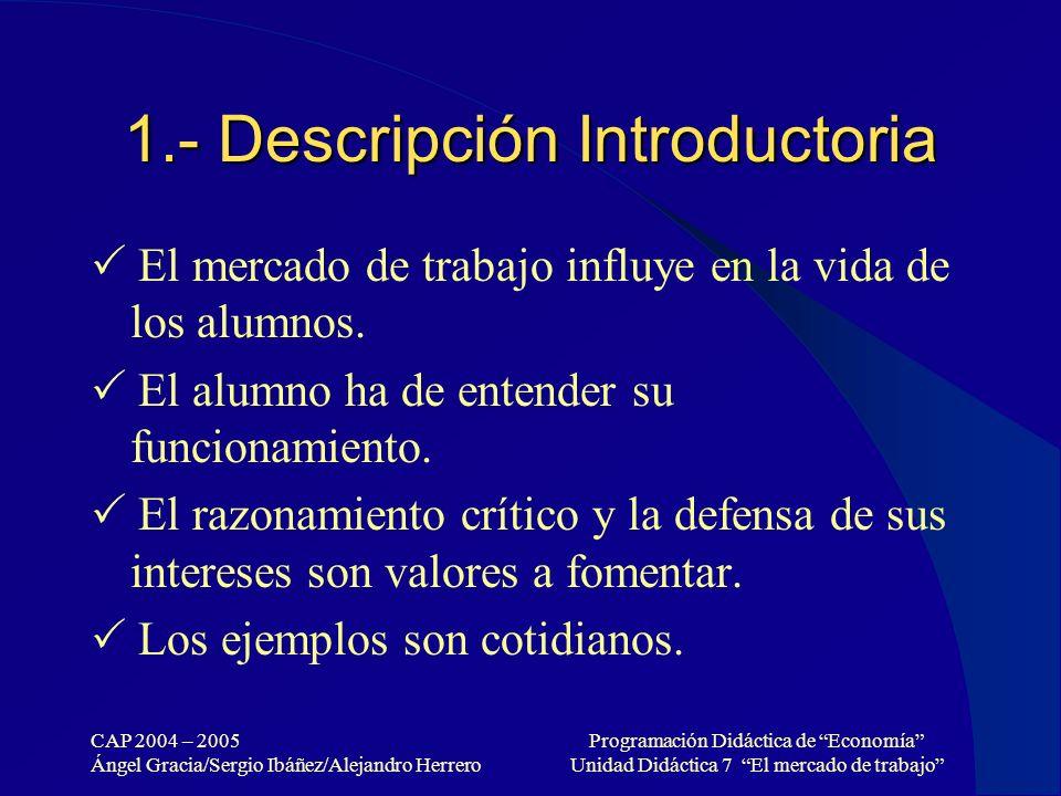 1.- Descripción Introductoria