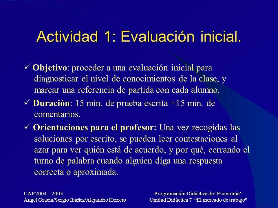 Actividad 1: Evaluación inicial.