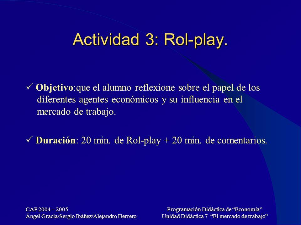 Actividad 3: Rol-play.