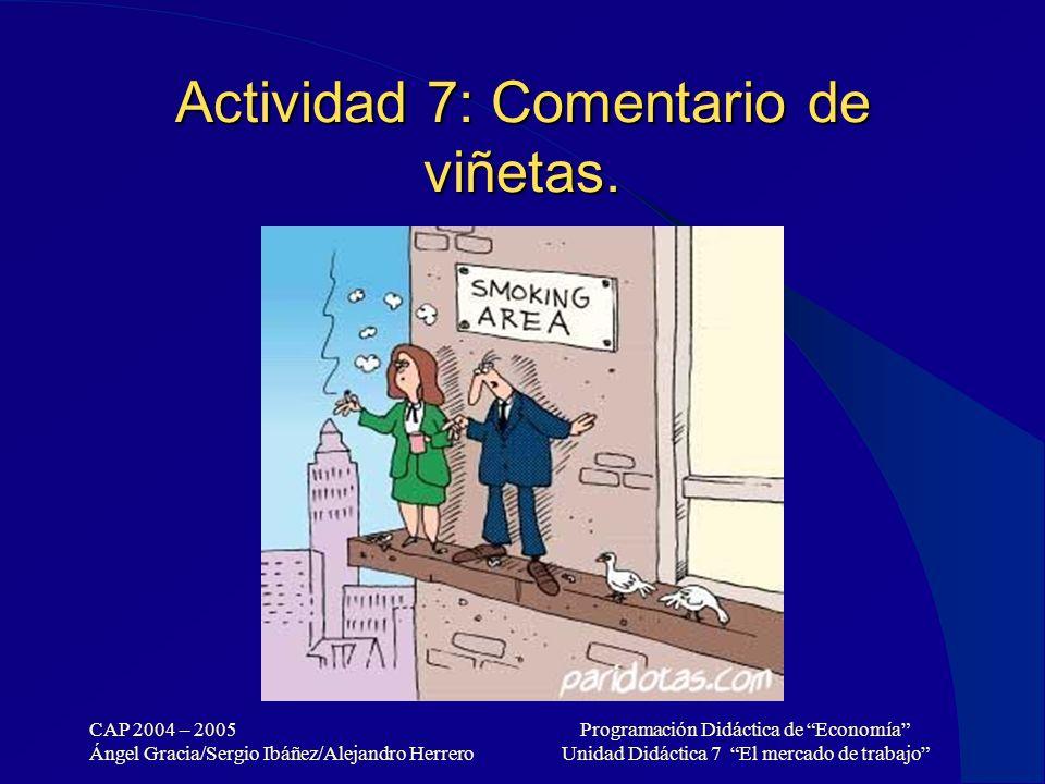 Actividad 7: Comentario de viñetas.