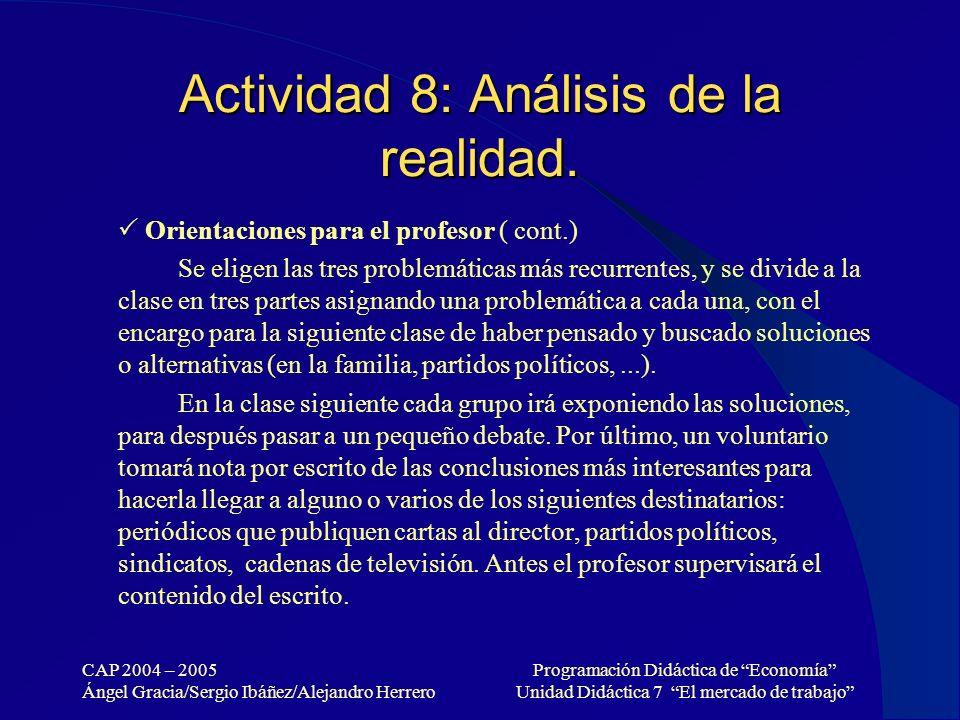 Actividad 8: Análisis de la realidad.