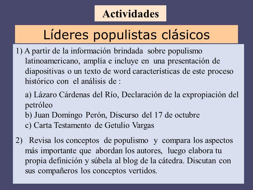Líderes populistas clásicos