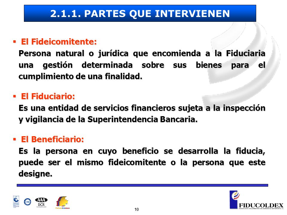 2.1.1. PARTES QUE INTERVIENEN