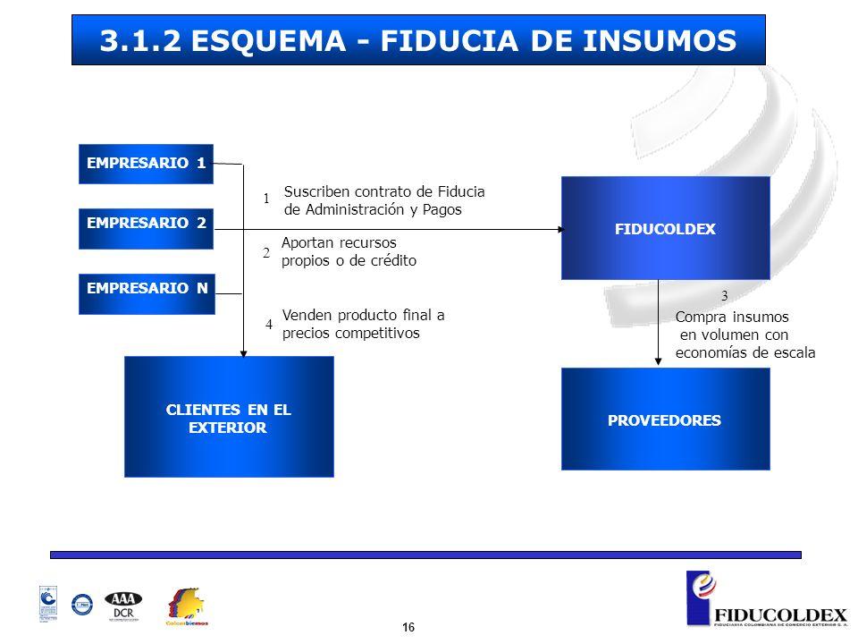 3.1.2 ESQUEMA - FIDUCIA DE INSUMOS