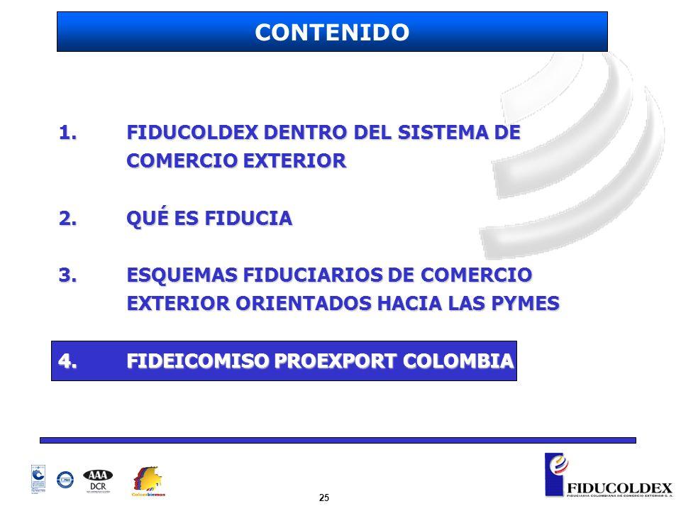 CONTENIDO 1. FIDUCOLDEX DENTRO DEL SISTEMA DE COMERCIO EXTERIOR