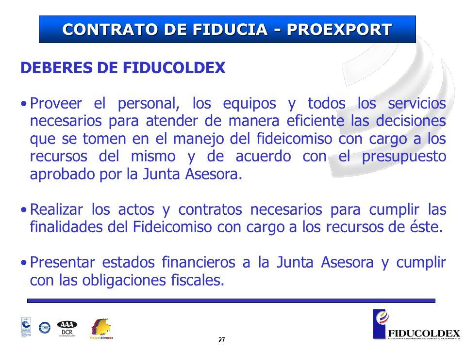 CONTRATO DE FIDUCIA - PROEXPORT