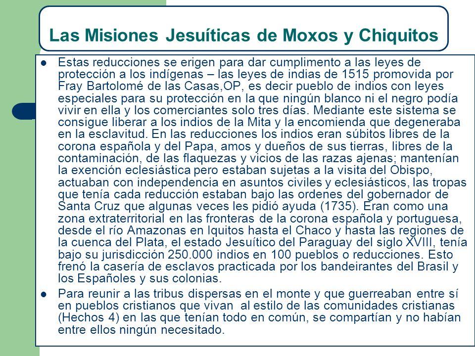 Las Misiones Jesuíticas de Moxos y Chiquitos