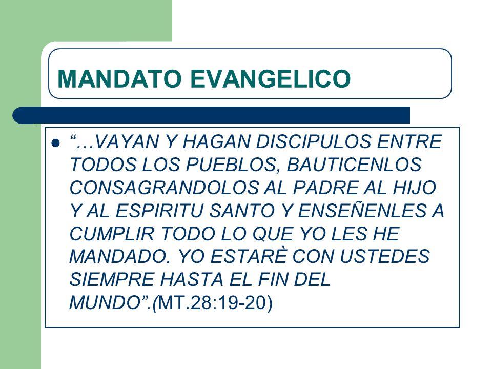MANDATO EVANGELICO