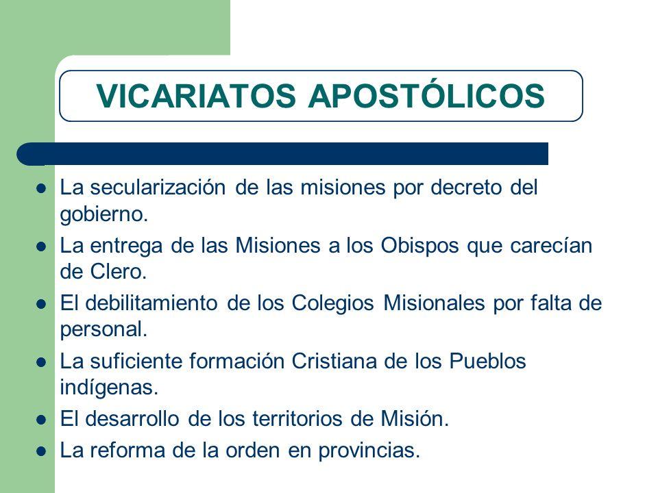 VICARIATOS APOSTÓLICOS
