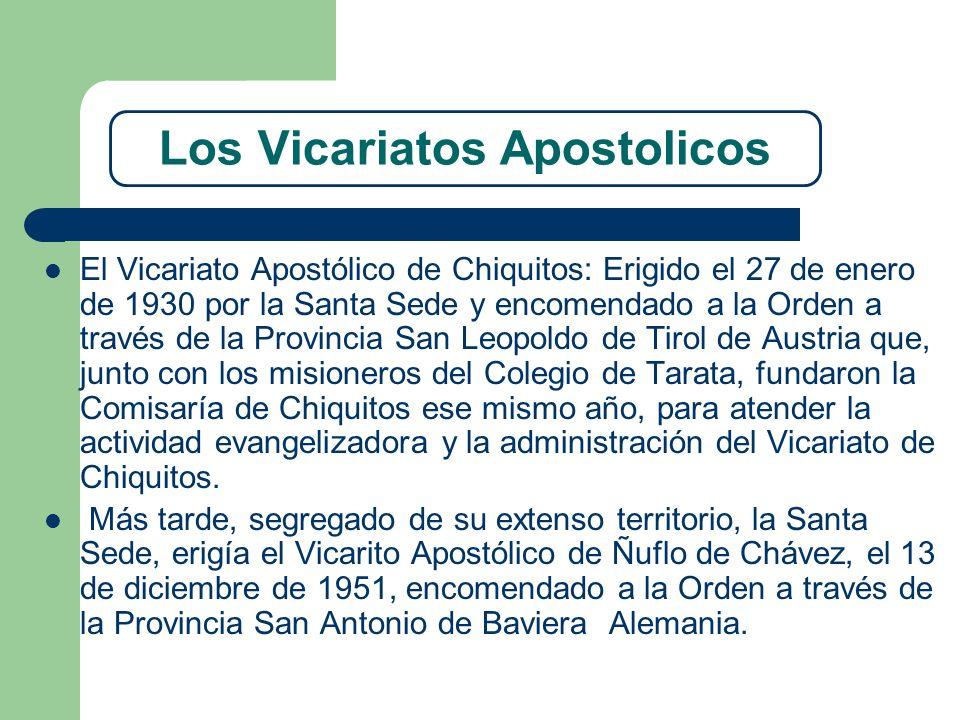 Los Vicariatos Apostolicos