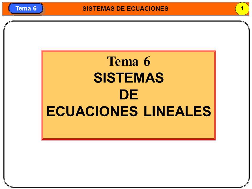 Tema 6 SISTEMAS DE ECUACIONES LINEALES